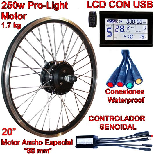 KIT PRO-LIGHT 250W LCD USB SIN BATERÍA 20""