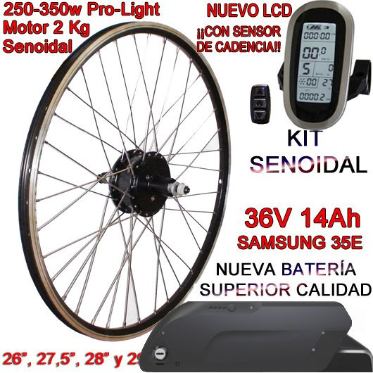 KIT PRO-LIGHT 250-350W CST LCD6 INTEGRA FR4 14Ah