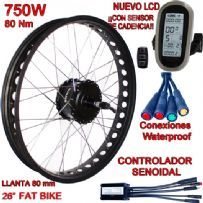 KIT FAT BIKE 750W BAFANG CST LCD6 SIN BATERÍA
