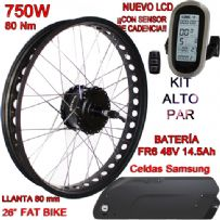 KIT FAT BIKE 750W BAFANG CST LCD6 48V 14.5Ah