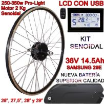 KIT PRO-LIGHT 250-350W LCD USB BATERÍA FR5 14.5Ah
