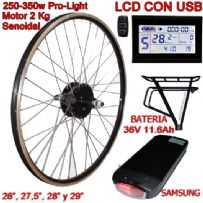 KIT PRO-LIGHT 250-350W LCD USB BATERÍA RT 11.6Ah