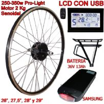 KIT PRO-LIGHT 250-350W LCD USB BATERÍA RT 13Ah