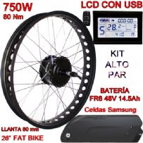 KIT FAT BIKE 750W BAFANG CST LCD 48V 14.5Ah